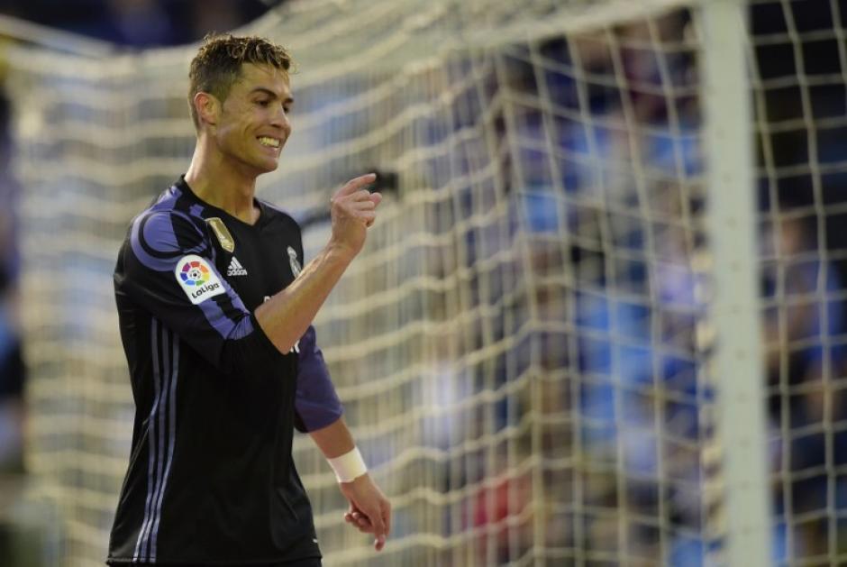 Cristiano Ronaldo lamenta haber fallado el gol frente al Celta. (Foto: AFP)