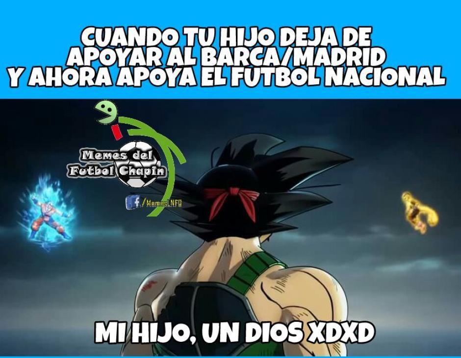 También hubo un mensaje para aquellos que dicen que el fútbol internacional es mejor que el guatemalteco. (Foto: Memes del fútbol Chapín)