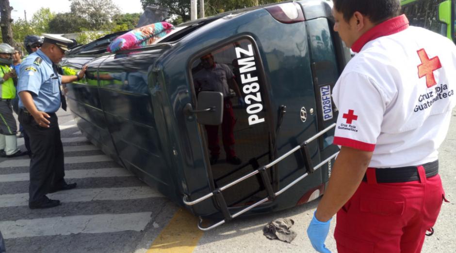 El accidente se registró en la zona 6 capitalina. (Foto: Cruz Roja)