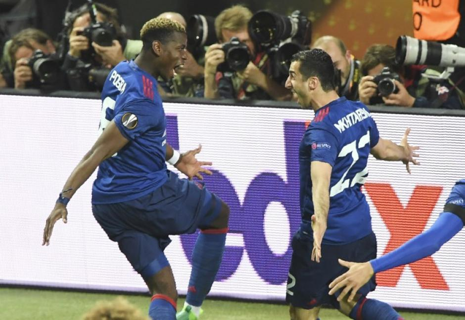Paul Pogba abrió el marcador para el cuadro inglés. (Foto: AFP)
