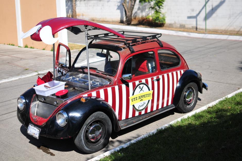 Utz Appetit tomó un escarabajo y lo convirtió en la cocina portátil. (Foto: Alejandro Balán/Soy502)
