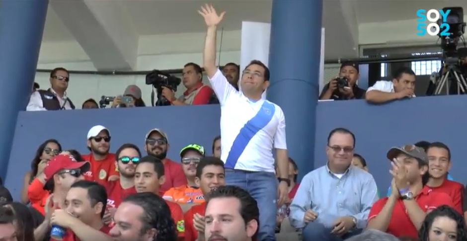 Jimmy Morales estuvo en la final del Apertura 2016. (Foto: Captura de video)