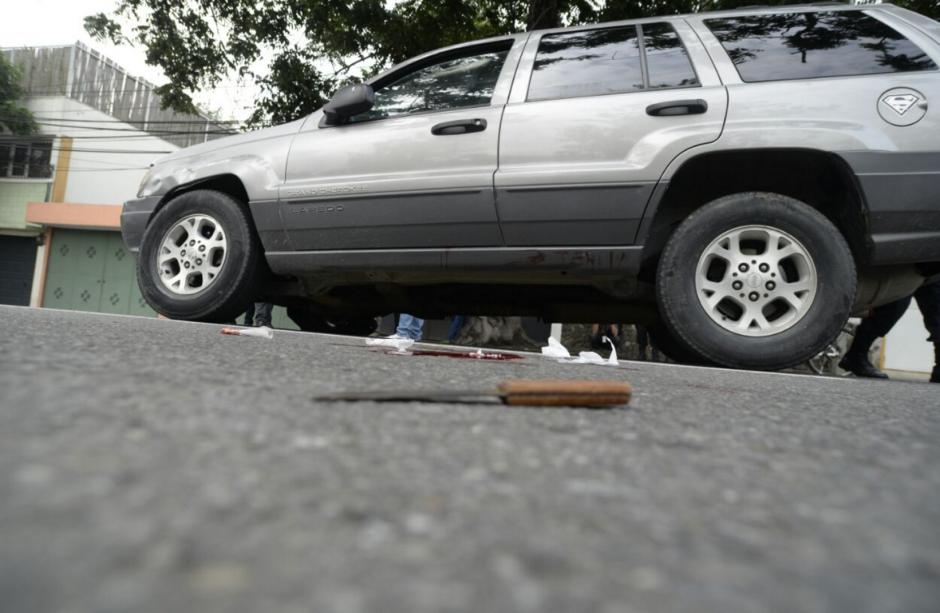 El hombre se hirió a sí mismo con un cuchillo de mesa. (Foto: Wilder López/Soy502)