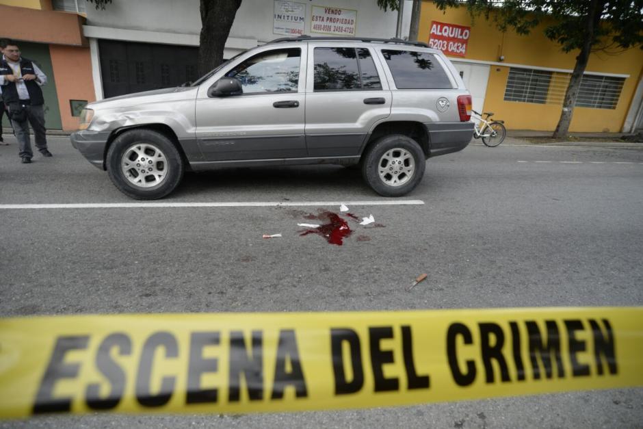 Así se encuentra la escena del atentado. (Foto: Wilder López/Soy502)