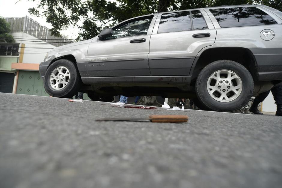 Este fue el cuchillo que utilizó el hombre. (Foto: Wilder López/Soy502)