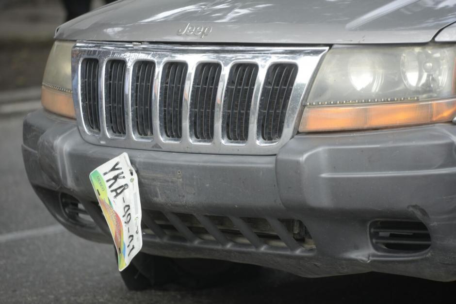 Las placas del carro son mexicanas. (Foto: Wilder López/Soy502)