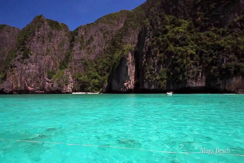 Las autoridades estiman que Maya Bay fue visitado por 2 millones de turistas en 2016. (Imagen: captura de YouTube)