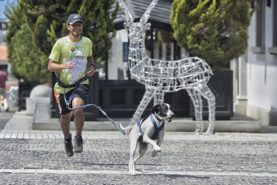 Algunas personas aprovecharon para correr junto con sus mascotas por la zona. (Foto: Wilder López/Soy502)