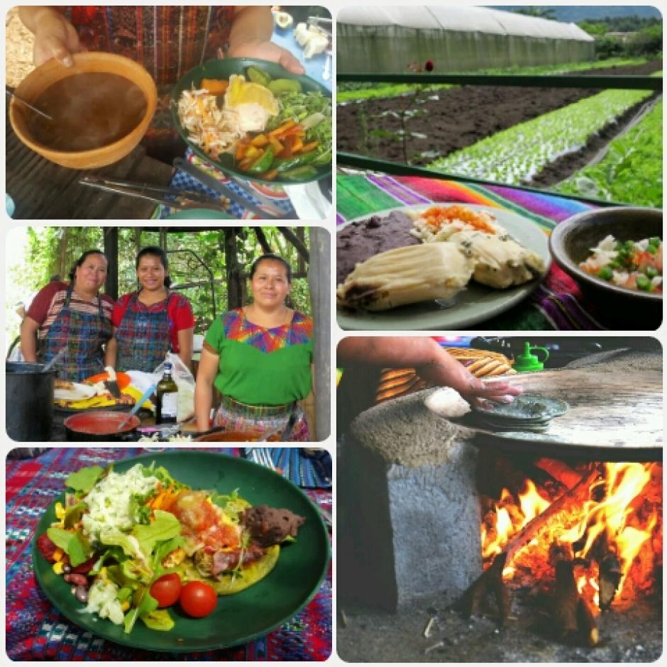 Un pequeño restaurante con deliciosa comida típica te hace disfrutar el paisaje. (Foto: Caoba Farms)