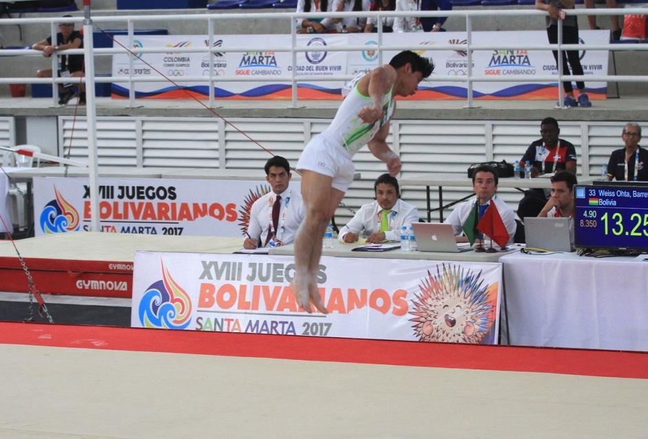 El gimnasta participa en los Juego Bolivarianos. (Foto: COG)