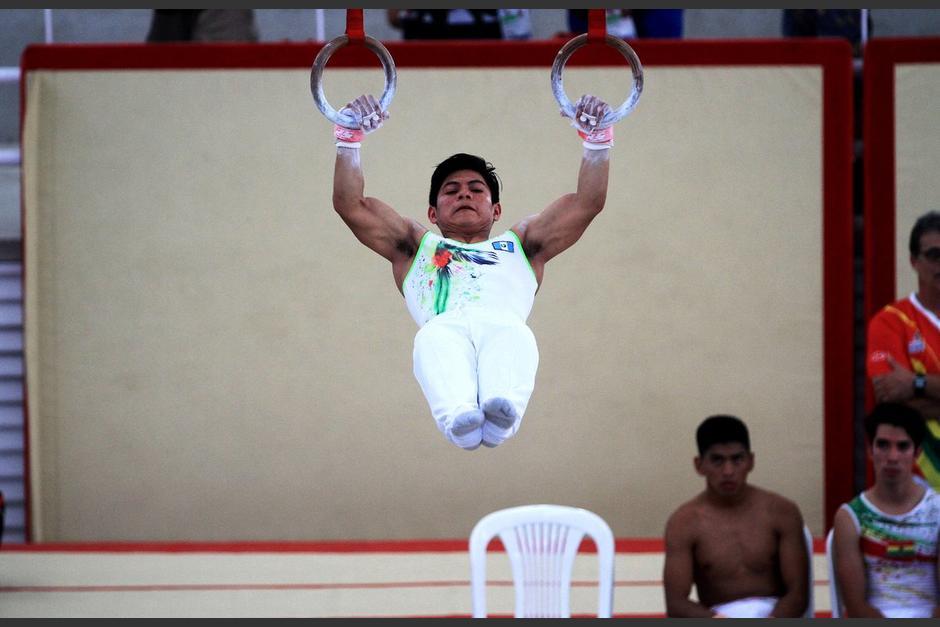 Jorge Vega durante su participación en la prueba de anillas. (Foto: COG)