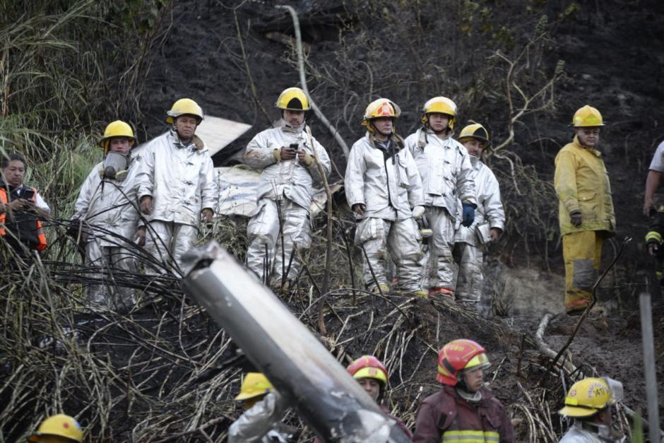 La aeronave cayó en cercanías a varias viviendas de la colonia La Libertad. (Foto: Wilder López/Soy502)