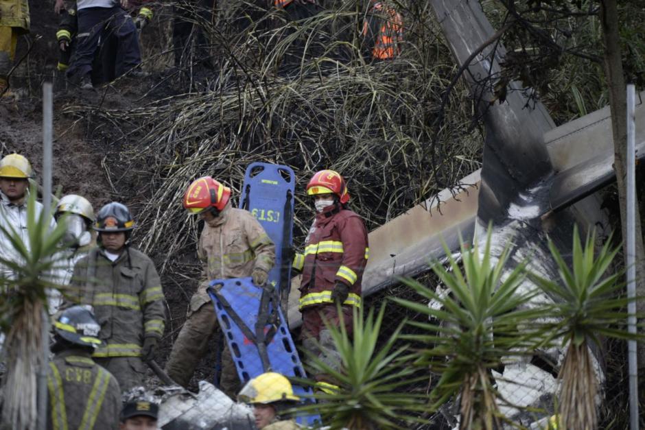 En la avioneta viajaban el piloto y el copiloto quienes resultaron heridos. (Foto: Wilder López/Soy502)