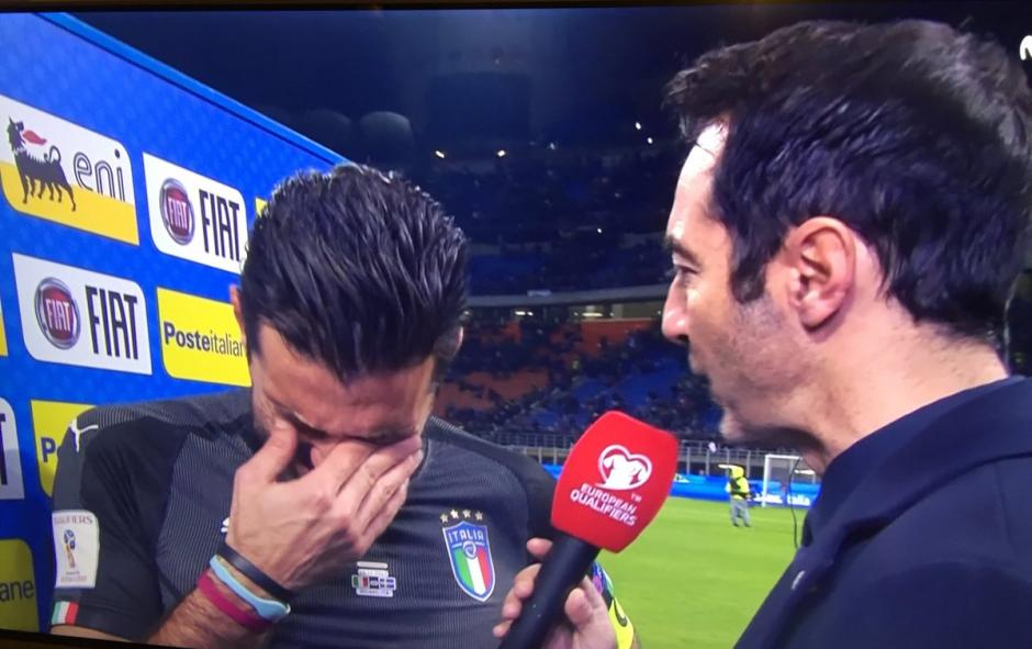 Buffon lloró tras la eliminación de Italia rumbo a Rusia 2018. (Foto: Captura de video)
