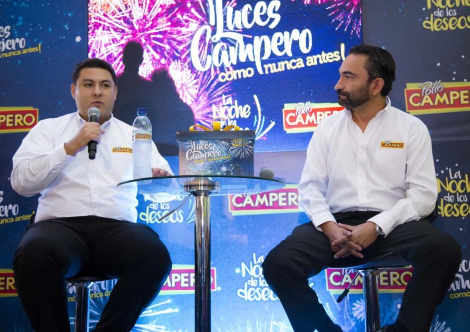 """""""El Show de luces campero es una experiencia inolvidable para nuestros clientes, ya que nos debemos a ellos"""", comentó Paulino Portillo, gerente de marca Pollo Campero. (Foto: Victor Xiloj/Soy502)"""