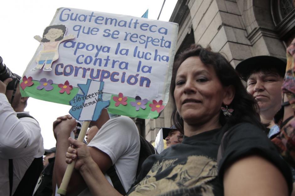 La corrupción y la impunidad fue el rechazo generalizado de los manifestantes. (Foto: Alejandro Balán/Soy502)