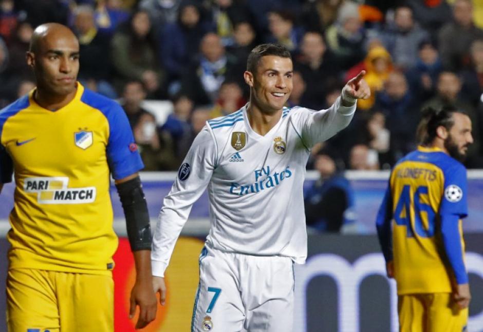 Cristiano Ronaldo volvió a sonreír al marcar dos goles este martes. (Foto: AFP)