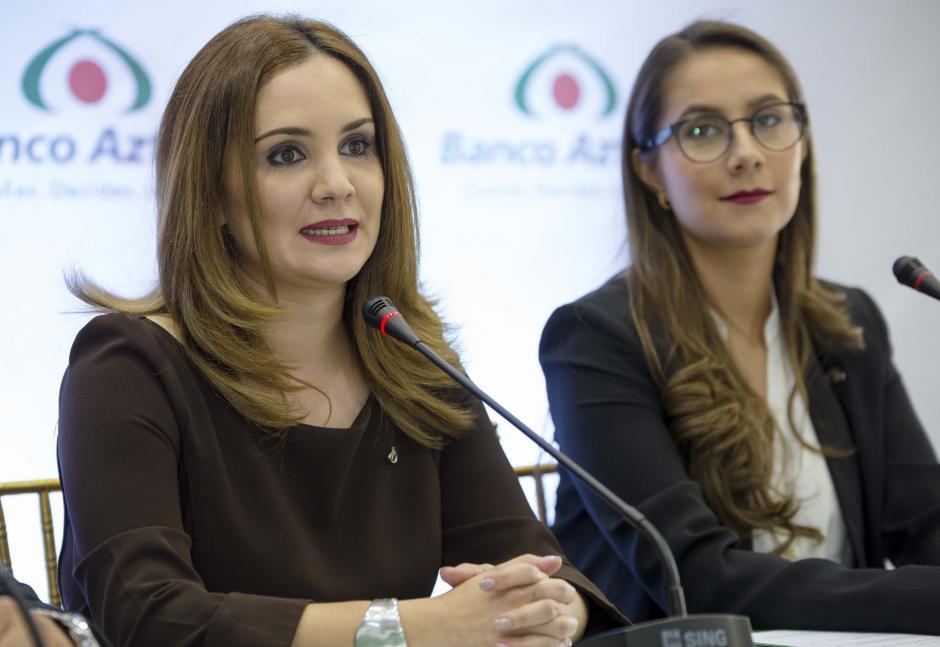 Rosa María Castañeda, gerente de mercadeo de Banco Azteca, habló del crecimiento de la entidad financiera. (Foto: George Rojas/Soy502)