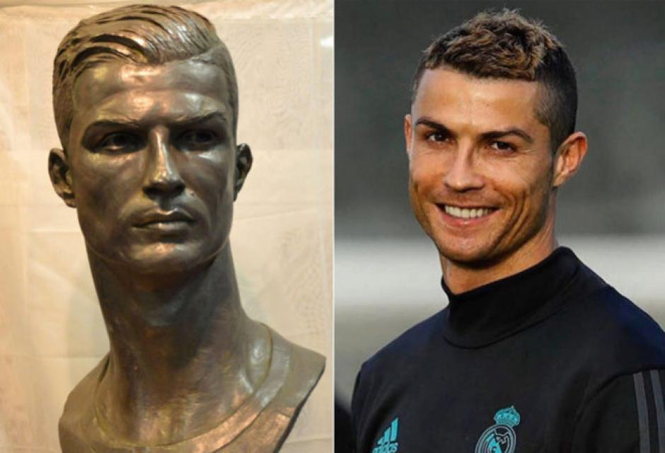 La nueva estatua se asemeja en gran medida a Cristiano Ronaldo. (Foto: Mundo)