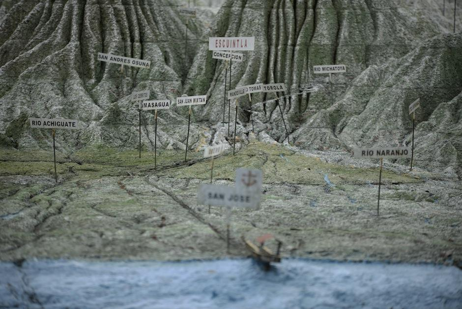 Muestra los ríos, mares, montañas, volcanes y lagos con precisión. (Foto: Wilder López/Soy502)