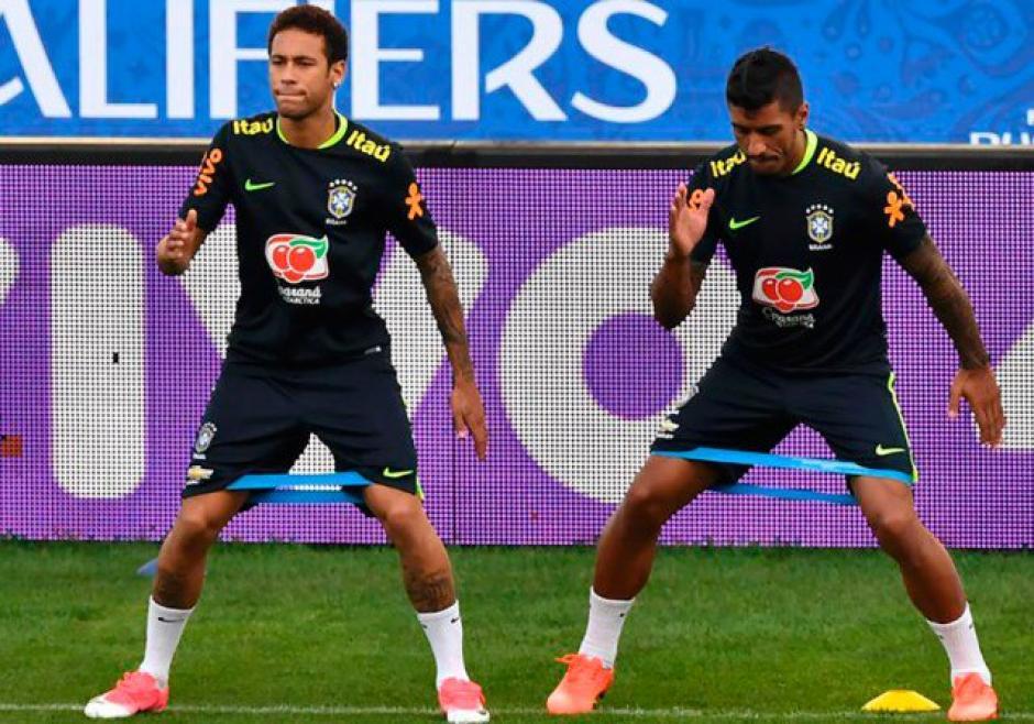 Neymar no concluyó la práctica de Brasil. (Foto: Espacio Futbol)