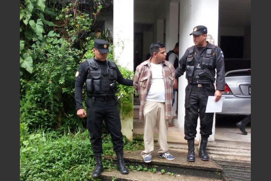 Este miércoles, la PNC detuvo al acusado en un sector de la zona 14. (Foto: PNC)