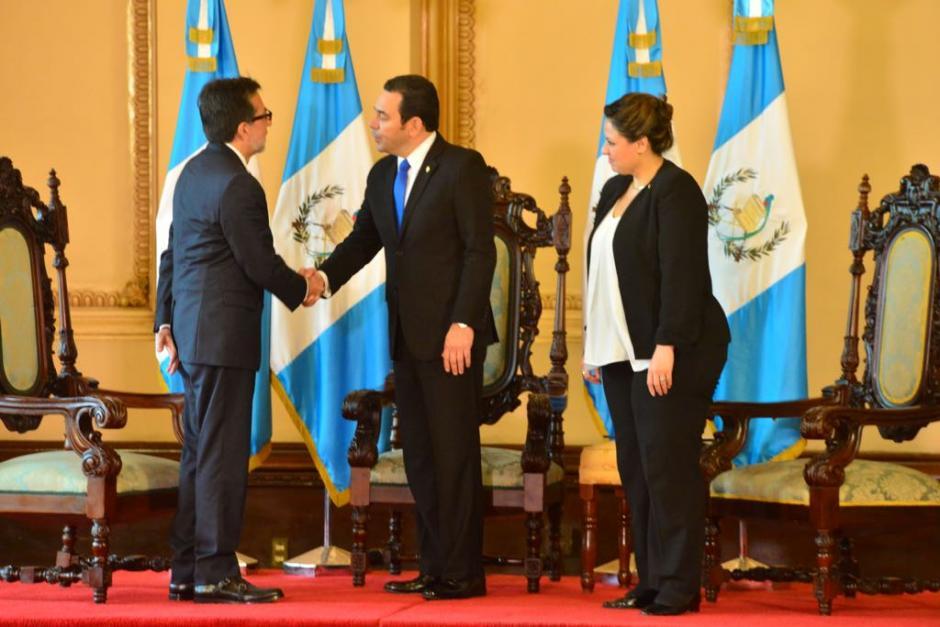 El primer encuentro entre Jimmy y Arreaga fue en el Palacio Nacional. (Foto: Jesús Alfonso/Soy502)