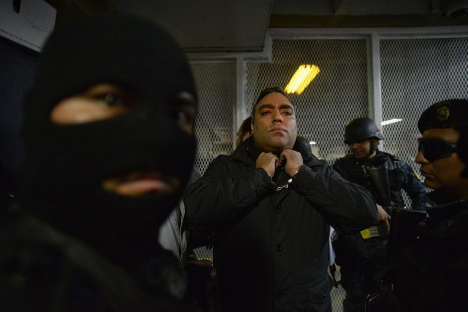 El hermano de Byron Lima fue llevado a la Torre de Tribunales. (Foto: Wilder López/Soy502)
