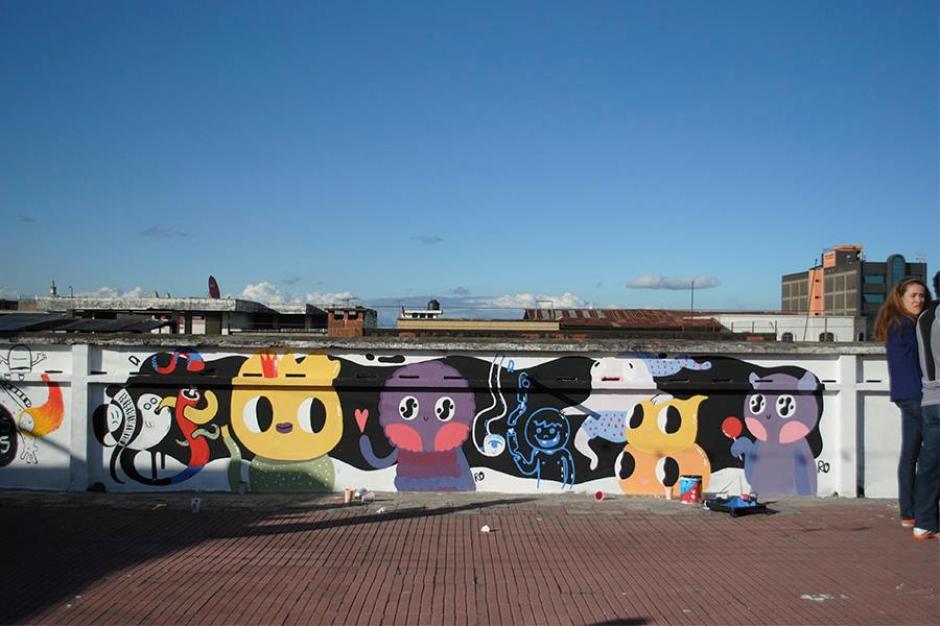 Ha participado en importantes festivales de mural en Guatemala. (Foto: No Soy Serge)