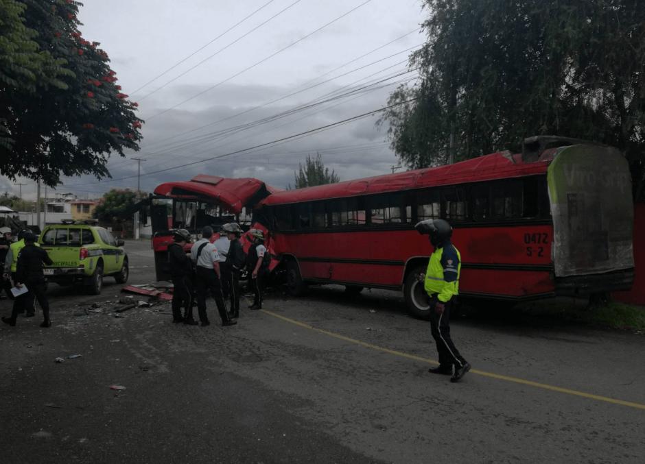 El accidente ocurrió en la zona 13. (Foto: Jorge Sente/Nuestro Diario)