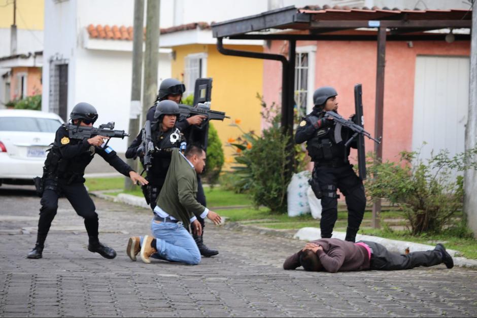 La PNC montó un operativo en Pastores, Sacatepéquez para detener al pandillero. (Foto: PNC)
