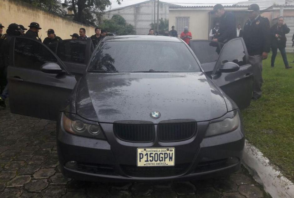 Además los pandilleros tenían un auto de lujo. (Foto: PNC)