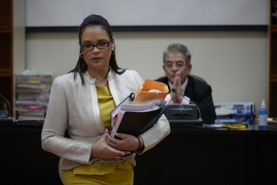La exvicepresidenta Roxana Baldetti declaró en la audiencia intermedia. (Foto: Wilder López/Soy502)