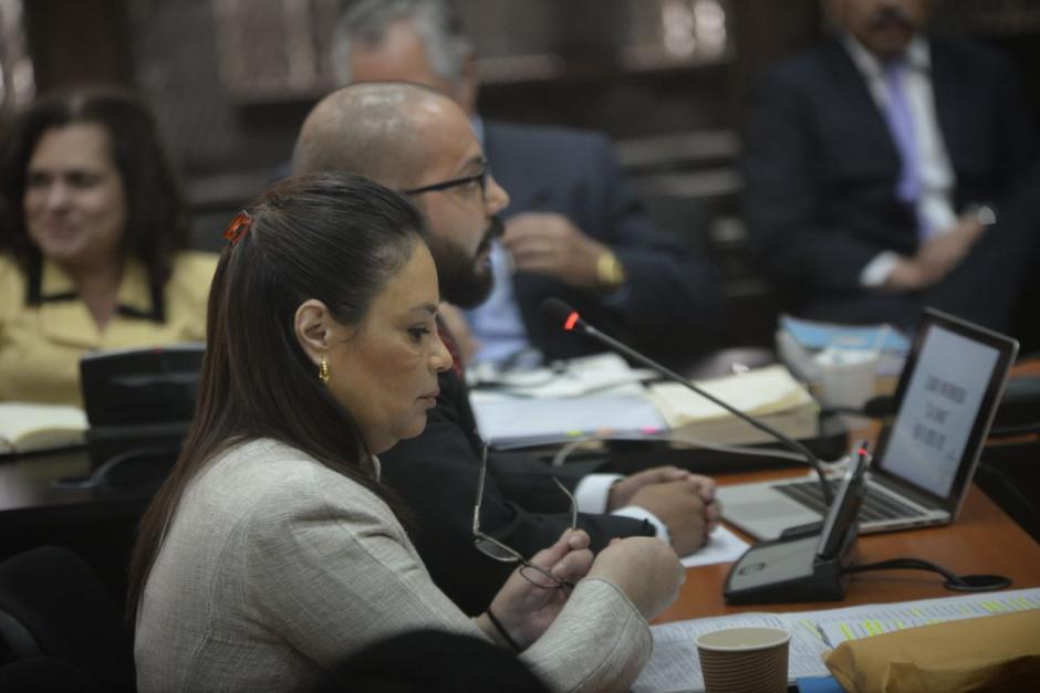 Baldetti pidió al juez que no envíe a los acusados a juicio. (Foto: Wilder López/Soy502)