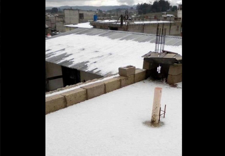 En Quetzaltenango también afectó el granizo. (Foto: Facebook/MeteorologíaGT)