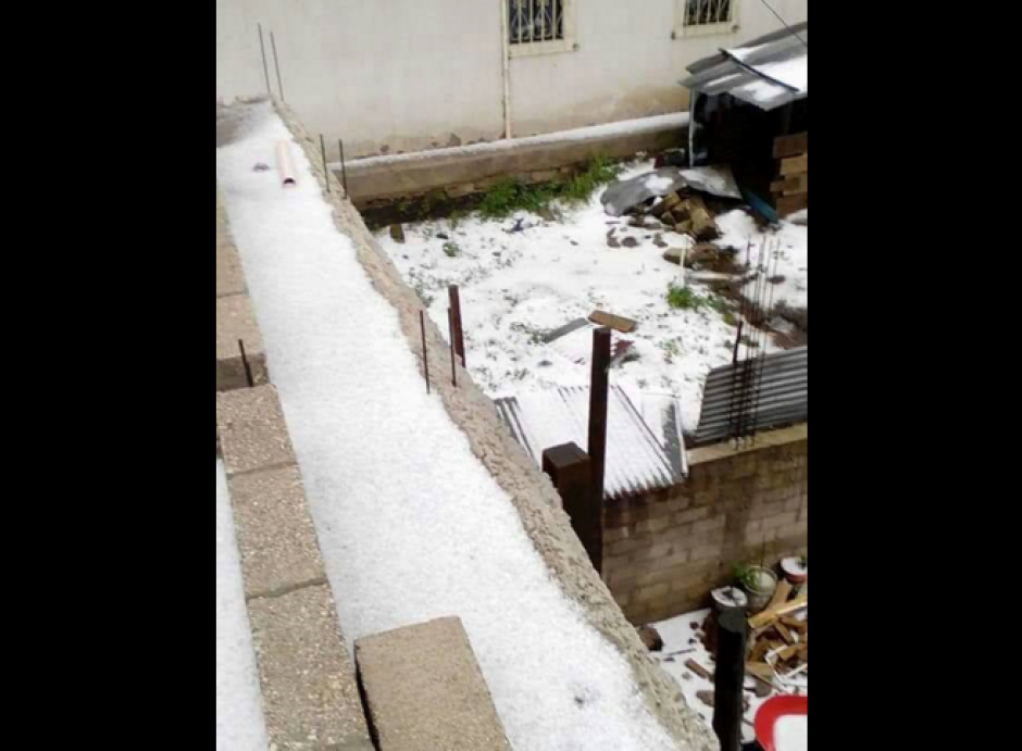 Los efectos de un temporal llegaron al occidente. (Foto: Facebook/MeteorologíaGT)