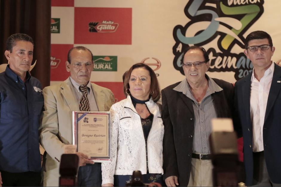 La 57 Vuelta a Guatemala es dedicada a Benigno Rustrián, campeón en 1967.  (Foto: Alejandro Balán/Soy502)