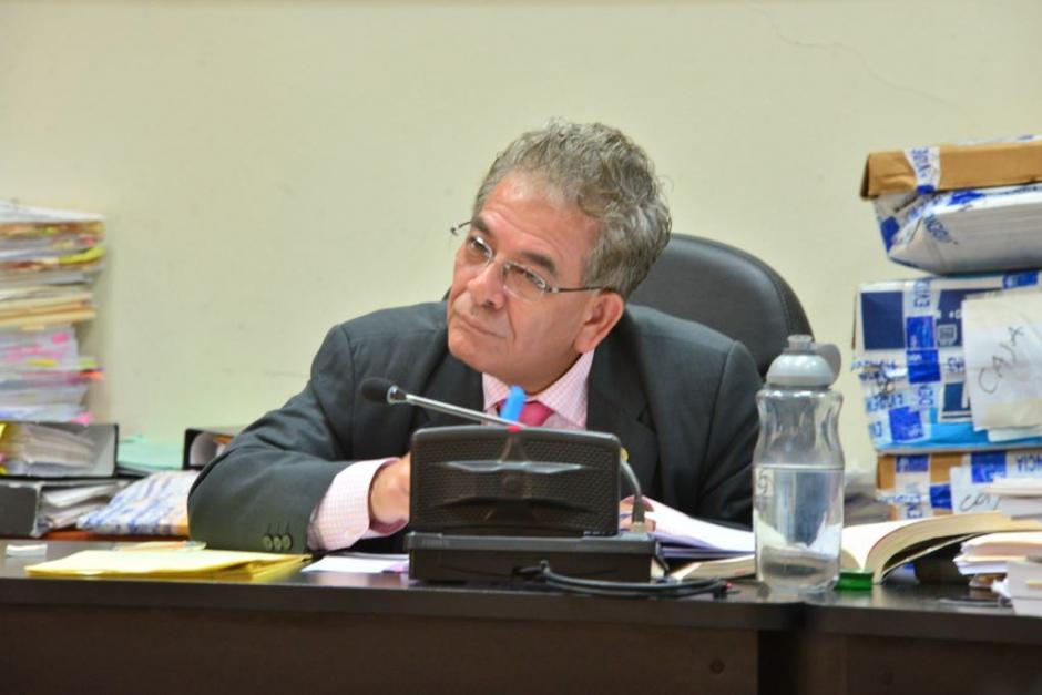El juez Miguel Ángel Gálvez escuchó al defensor de Otto Pérez Molina. (Foto: Jesús Alfonso/Soy502)
