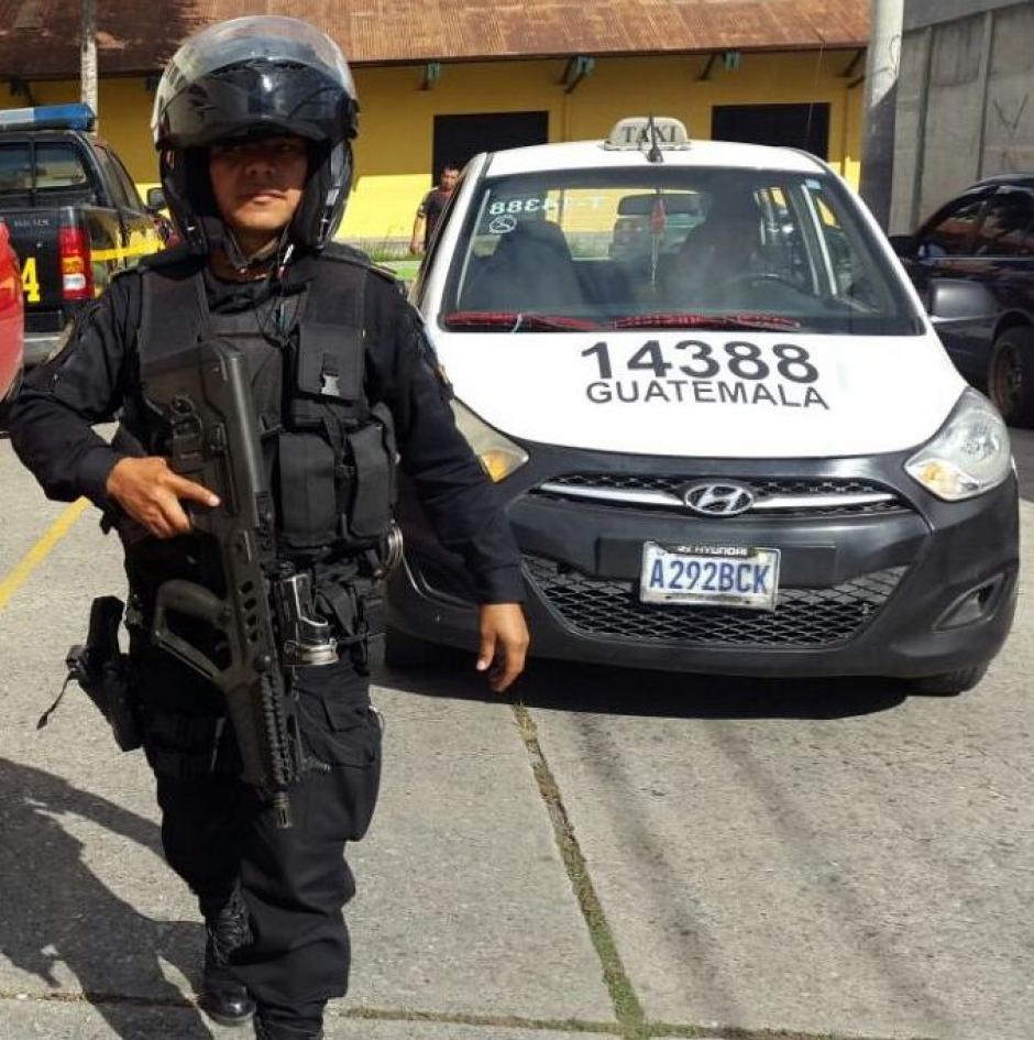 El otro de los detenidos se encotraba conduciendo un taxi en San José del Golfo. (Foto: PNC)