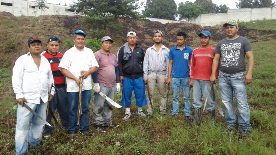 Los sindicados nunca recibieron el pago que les ofreció la persona que los contrató para talar los árboles. (Foto: Municipalidad de Guatemala)