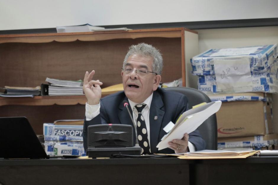 El juez Miguel Ángel Gálvez durante audiencia por el caso La Línea. (Foto: Alejandro Balán/Soy502)
