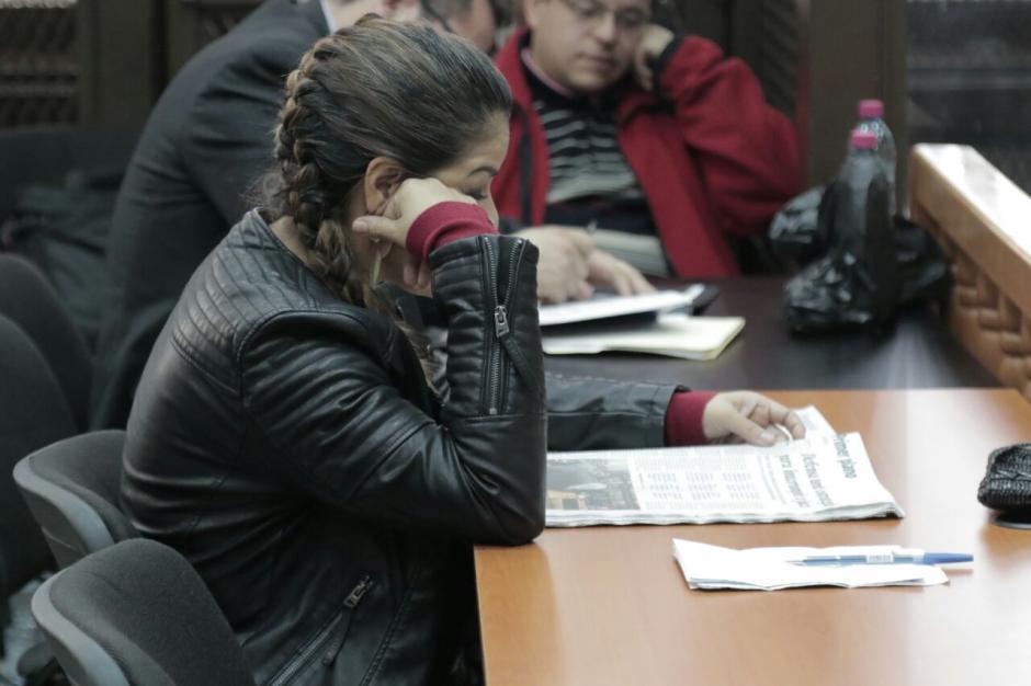 La exintendente de Aduanas, Claudia Méndez, durante una audiencia por el caso La Línea. (Foto: Alejandro Balán/Soy502)