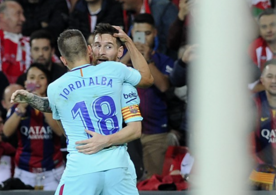 Messi abrió la ruta del triunfo del Barsa en Bilbao. (Foto: AFP)