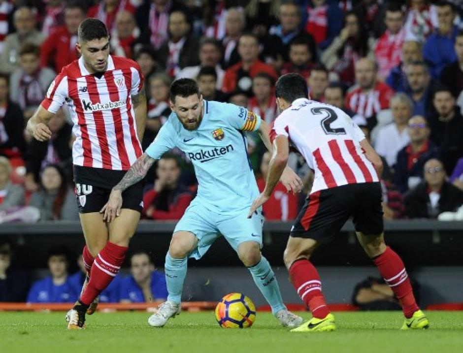 Messi jugó un gran partido en Bilbao. (Foto: AFP)