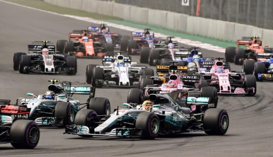Hamilton no pudo ganar en México pero se coronó campeón mundial por cuarta vez. (Foto: AFP)