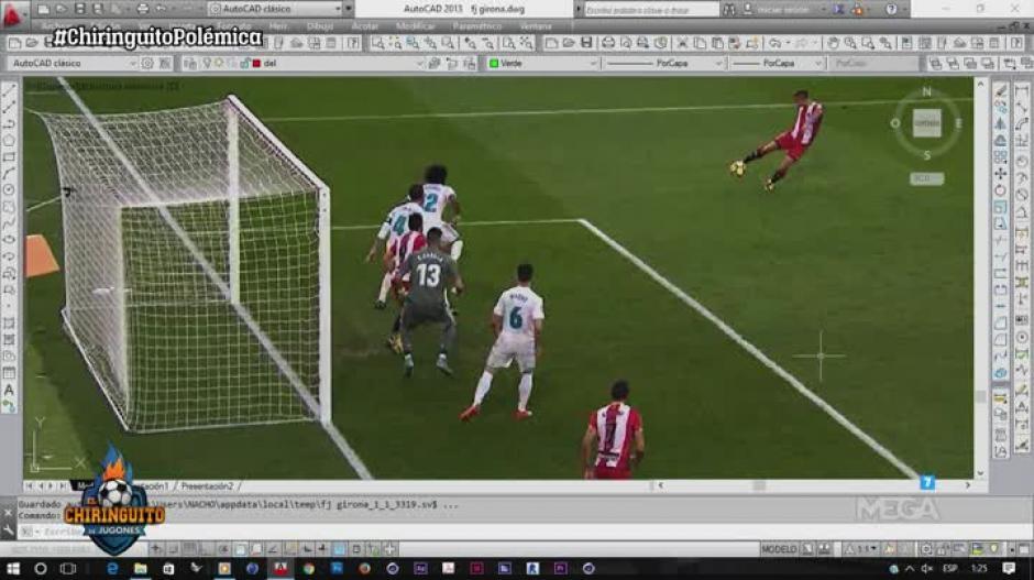 An lisis 3d confirma que el segundo gol del girona era for Imagenes de fuera de lugar