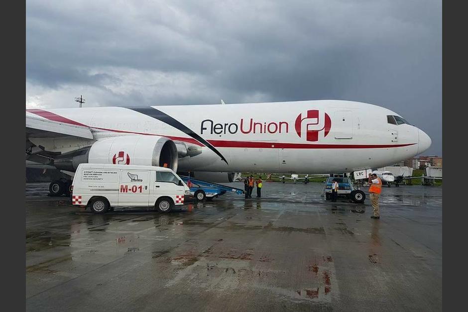 El avión carguero llegó a Guatemala a mitad de la semana. (Foto: Josue López/Aerotob Aviation Services)