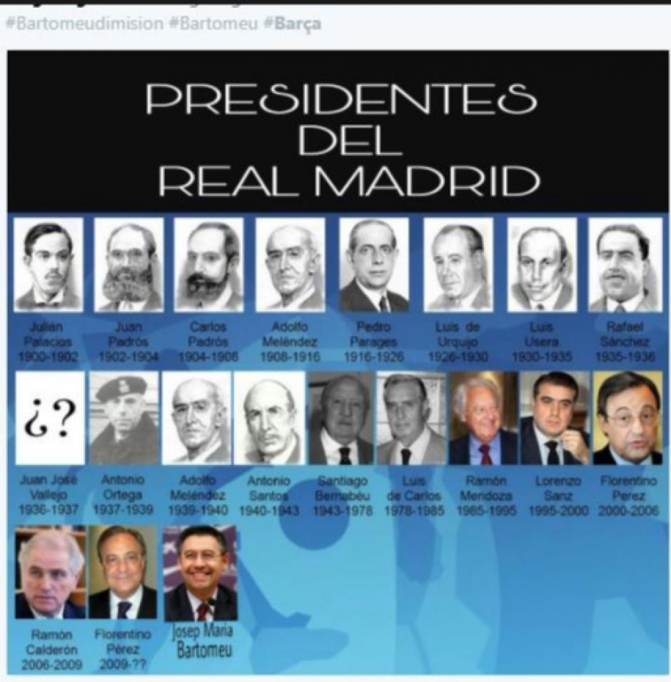 ¿Bartomeu presidente del Madrid?  (Foto: Twitter)