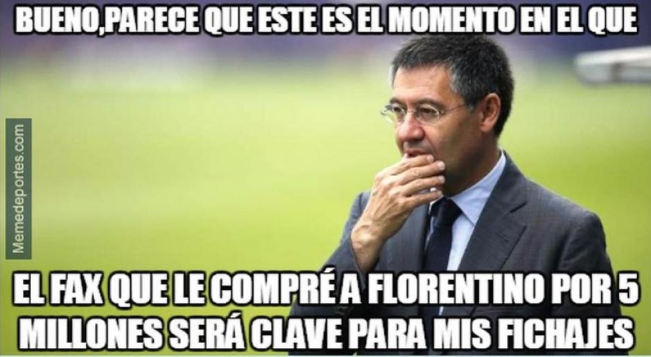 El fax descompuesto de Florentino Pérez está ahora en Barcelona.  (Foto: Twitter)