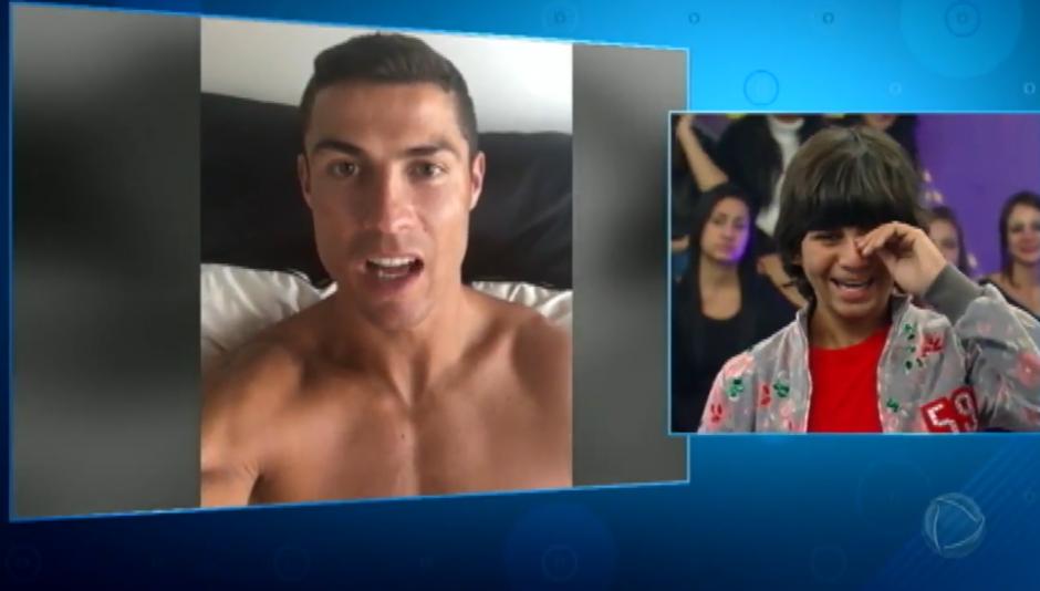 1c17faeb76ce6 Rodriguinho llora de felicidad al ver el mensaje que le envió Cristiano  Ronaldo. (Foto